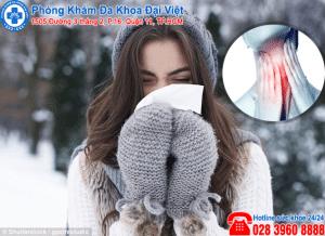 Bệnh viêm họng khi trời lạnh