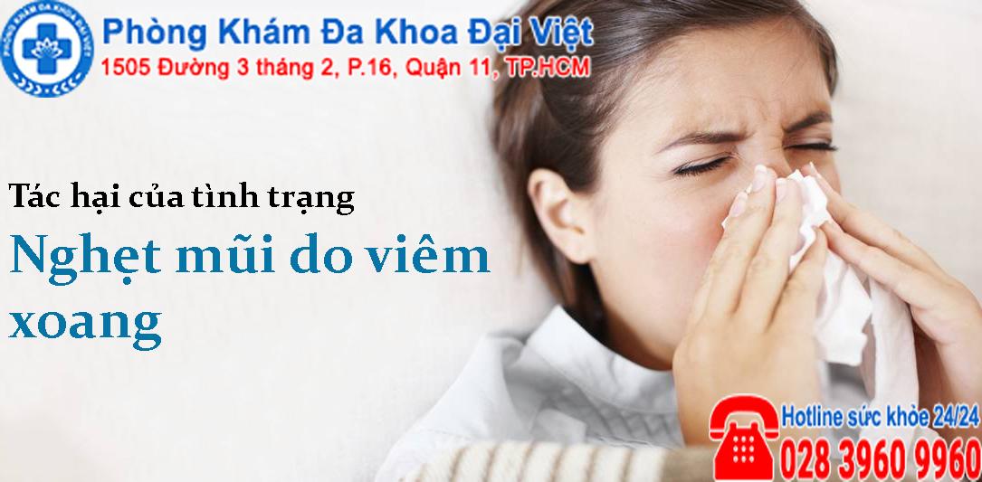 Tác hại của tình trạng nghẹt mũi do viêm xoang