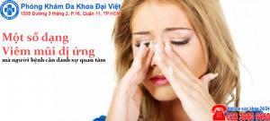 dạng viêm mũi dị ứng