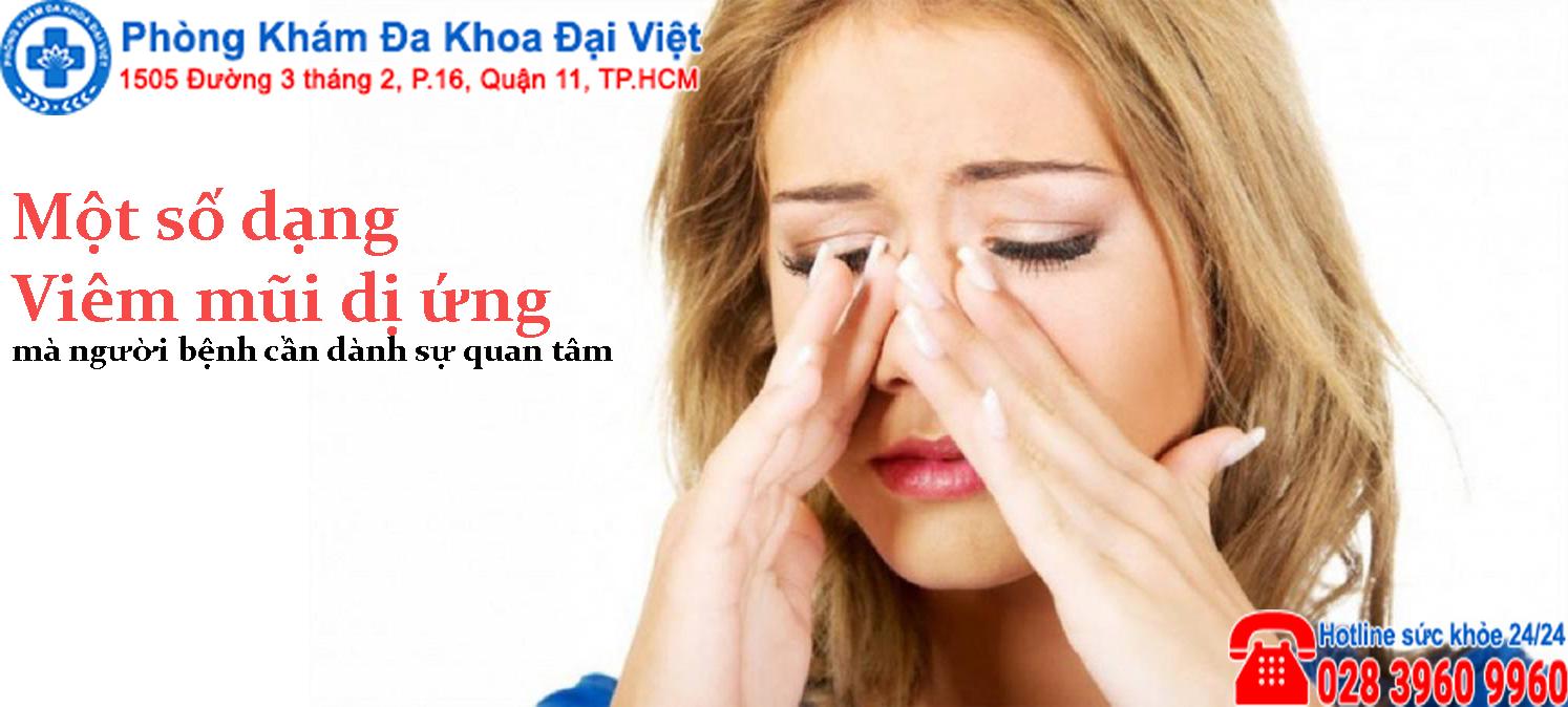 Một số dạng viêm mũi dị ứng người bệnh cần biết